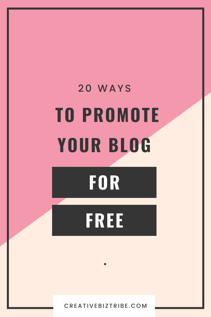 20 ways to promote your blog