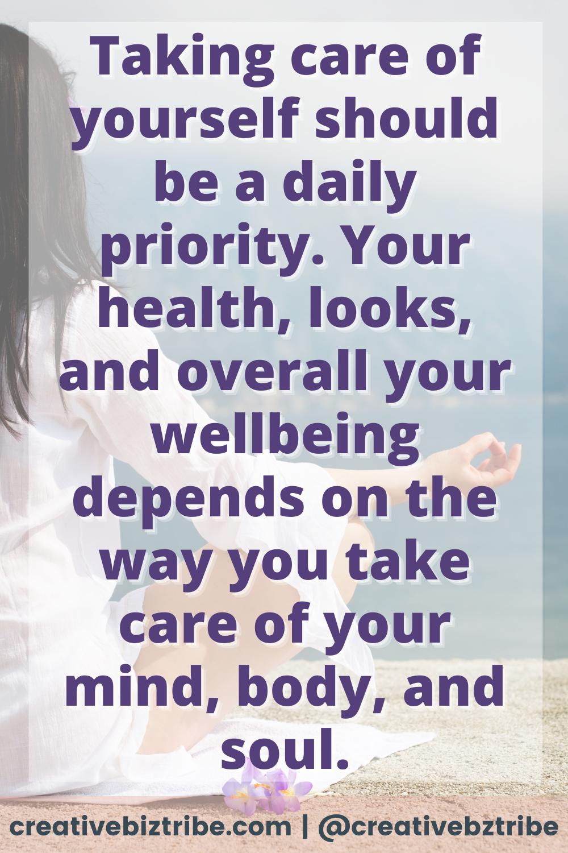 30 Simple Self Care Ideas creativebiztribe.com #selfcare #selfcarechecklist #takecareofyou