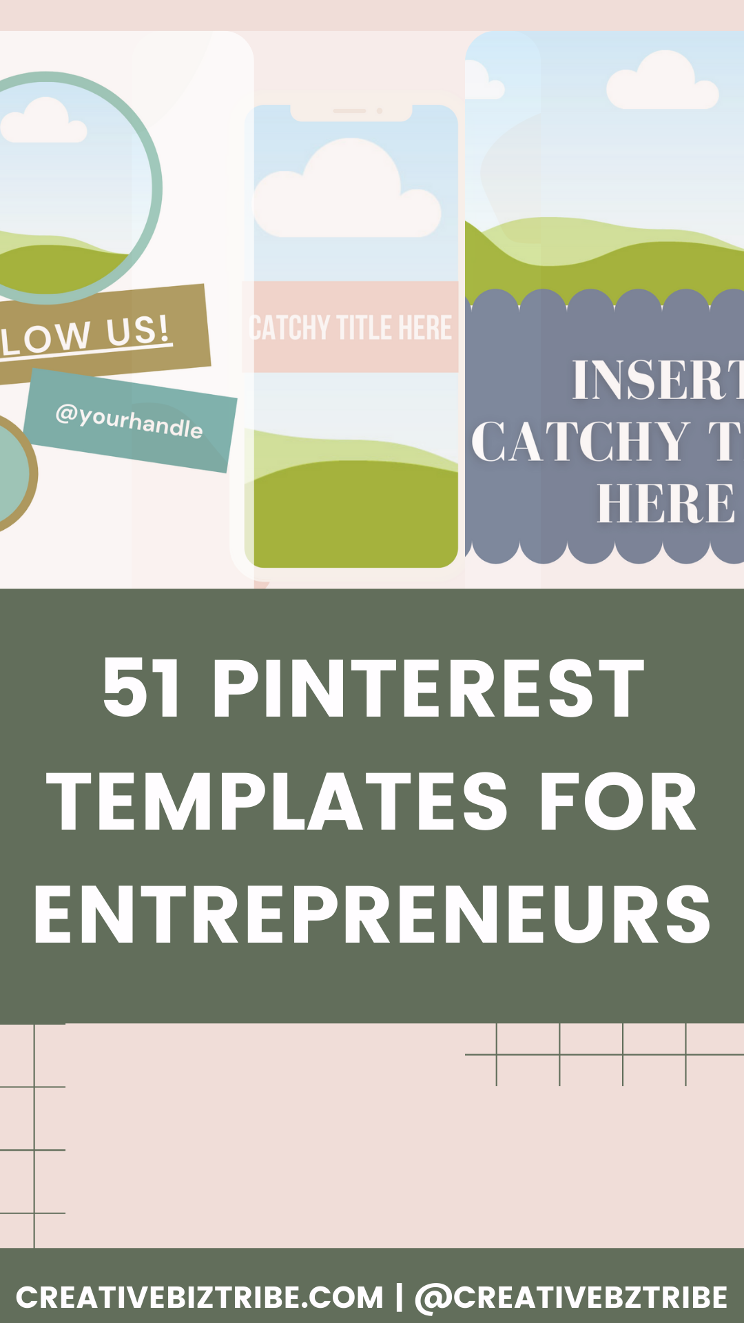 How to Make Pins 51 pinterest templates via Canva creativebiztribe.com #pinteresttemplate #pinterest #canvatemplate 51