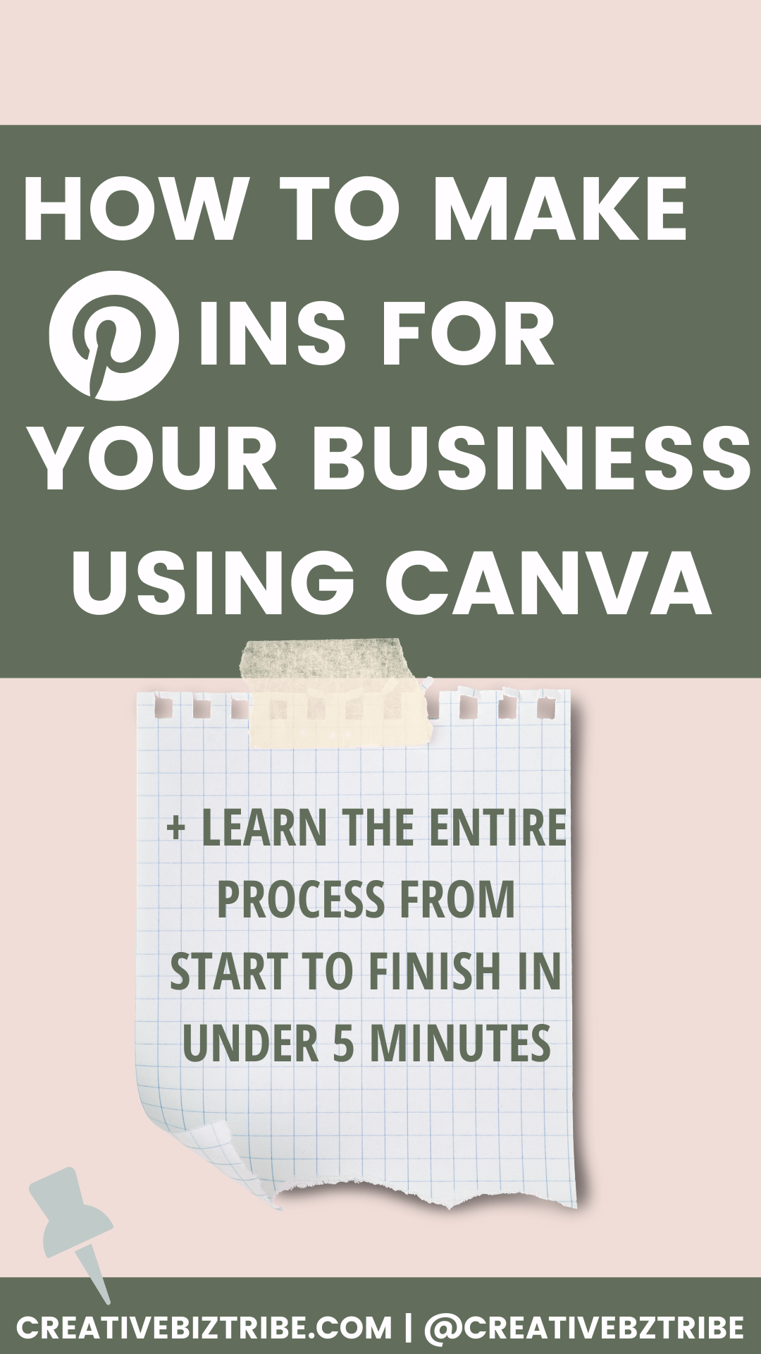 How to Make Pins 51 pinterest templates via Canva creativebiztribe.com #pinteresttemplate #pinterest #canvatemplate