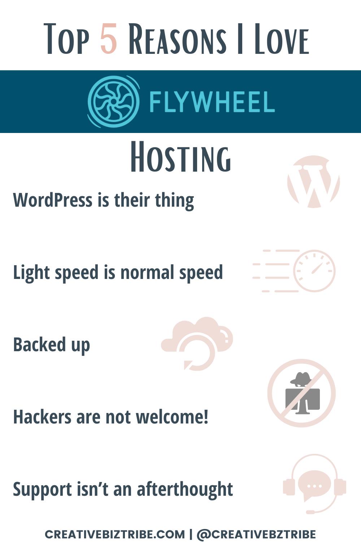 Top 5 Reasons I Love Flywheel Hosting creativebiztribe.com #flywheelhosting #websitehosting #websites